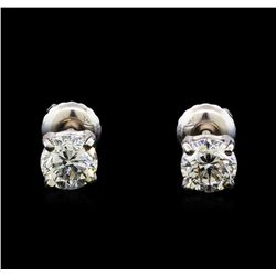 1.06 ctw Diamond Stud Earrings - 14KT White Gold