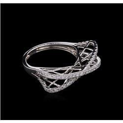 0.57 ctw Diamond Ring - 14KT White Gold