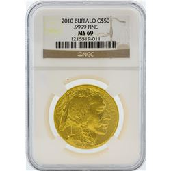 2010 NGC MS69 $50 American Buffalo Gold Coin