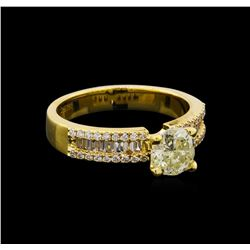 1.37 ctw Diamond Ring - 18KT Yellow Gold