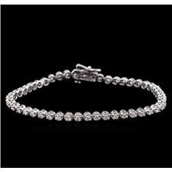 1.65 ctw Diamond Tennis Bracelet - 14KT White Gold