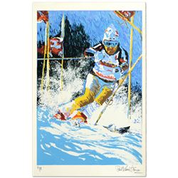 Downhill Skier by Henrie (1932-1999)