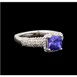 14KT White Gold 1.51 ctw Tanzanite and Diamond Ring
