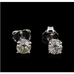 0.71 ctw Diamond Stud Earrings - 14KT White Gold