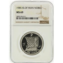 1985 NGC MS69 Isle of Man Noble 1 Oz. Platinum Coin
