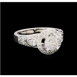 1.52 ctw Diamond Ring - 18KT White Gold