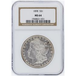 1898 NGC MS64 Morgan Silver Dollar