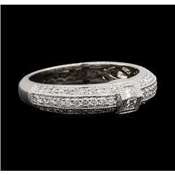 0.60 ctw Diamond Ring - 18KT White Gold