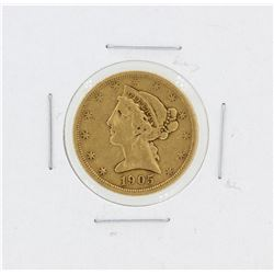 1905-S $5 VF Liberty Head Half Eagle Gold Coin