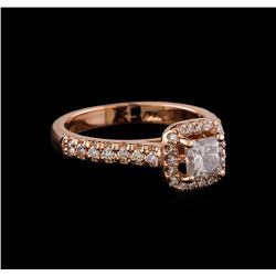 0.75 ctw Diamond Ring - 14KT Rose Gold