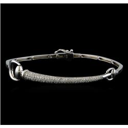 0.98 ctw Diamond Bracelet - 14KT White Gold
