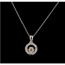 0.33 ctw Diamond Pendant With Chain - 14KT White Gold