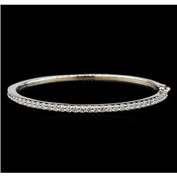 14KT White Gold 2.06 ctw Diamond Bangle Bracelet