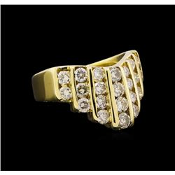 1.58 ctw Diamond Ring - 14KT Yellow Gold