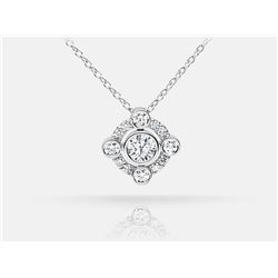 Diamond Pendant - 18KT White Gold
