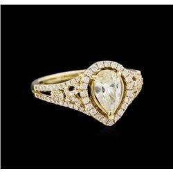 14KT Yellow Gold 1.78 ctw Diamond Unity Ring