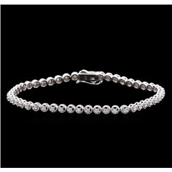 0.75 ctw Diamond Tennis Bracelet - 14KT White Gold