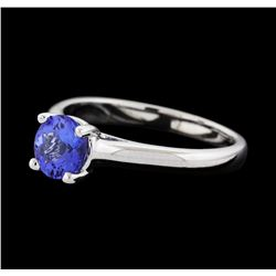 0.80 ctw Tanzanite Ring - 14KT White Gold
