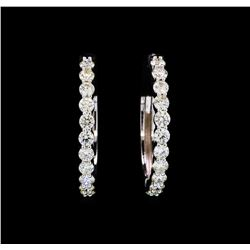 2.00 ctw Diamond Earrings - 18KT White Gold