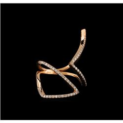 0.48 ctw Diamond Ring - 14KT Rose Gold