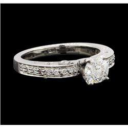 1.01 ctw Diamond Ring - 18KT White Gold