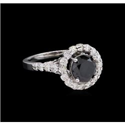 2.58 ctw Black Diamond Ring - 14KT White Gold