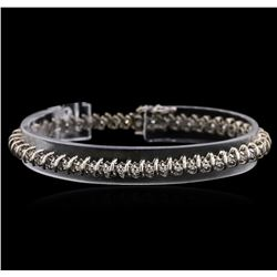14KT White Gold 0.60 ctw Diamond Tennis Bracelet