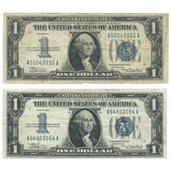 1934 $1 Silver Certificate Currency Lot of 2
