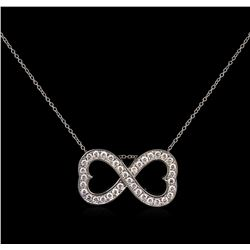 0.60 ctw Diamond Infinity Pendant With Chain - 14KT White Gold