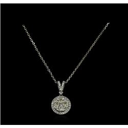 0.79 ctw Diamond Necklace - 14KT White Gold