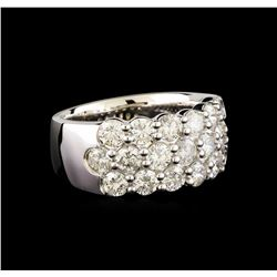 14KT White Gold 2.98 ctw Diamond Ring