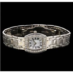 Geneve 14KT White Gold Diamond Ladies Watch