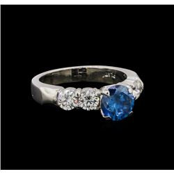 1.75 ctw Fancy Blue Diamond Ring - Platinum
