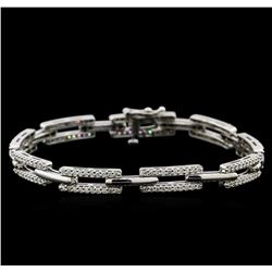 1.90 ctw Diamond Bracelet - 14KT White Gold