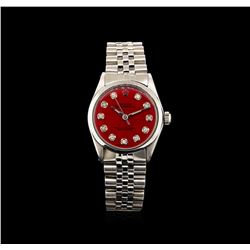 Rolex Stainless Steel Vintage Mid-Size Oyster Perpetual Watch
