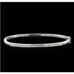 1.00 ctw Diamond Bangle Bracelet - 14KT White Gold