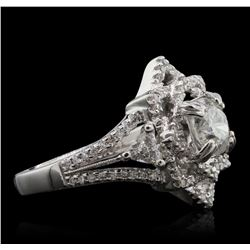 18KT White Gold 1.62 ctw Diamond Ring