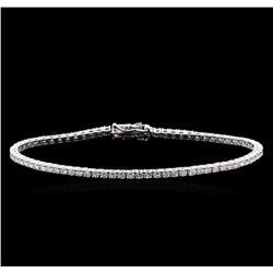 3.20 ctw Diamond Bracelet - 18KT White Gold
