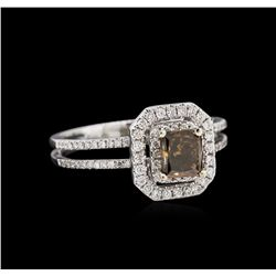 0.81 ctw Fancy Brown Diamond Ring - 14KT White Gold