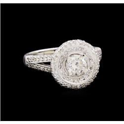 1.72 ctw Diamond Ring - 18KT White Gold