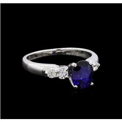 1.13 ctw Sapphire and Diamond Ring - Platinum