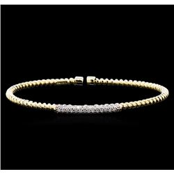 0.44 ctw Diamond Bracelet - 14KT Yellow Gold