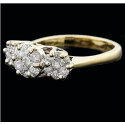14KT Yellow Gold 1.25 ctw Diamond Ring