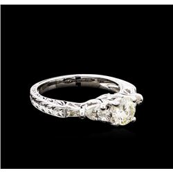 1.28 ctw Diamond Ring - 18KT White Gold