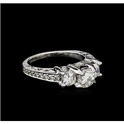 2.34 ctw Diamond Ring - 18KT White Gold
