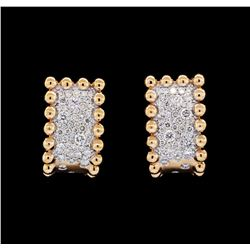 0.75 ctw Diamond Curve Earrings - 18KT Rose Gold