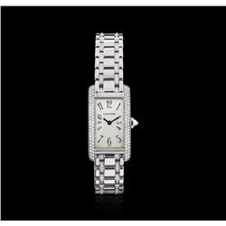 Cartier 18KT White Gold 2.00 ctw Diamond Tank Americaine Ladies Watch