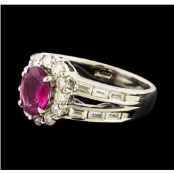Ruby and Diamond Ring - Platinum