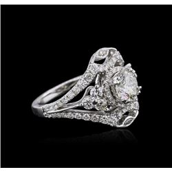 18KT White Gold 2.37 ctw Diamond Ring