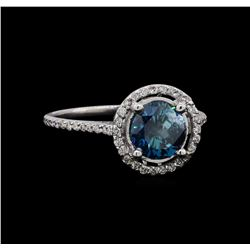 1.22 ctw Fancy Blue Diamond Ring - 14KT White Gold